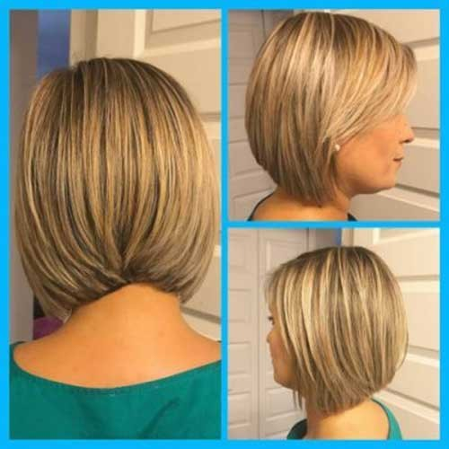 Slightly-Stacked-Bob-Haircut Latest Bob Haircuts and Styles for You