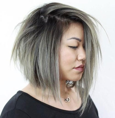 Straight-Bob-Hair Short Hairstyles for Chubby Faces