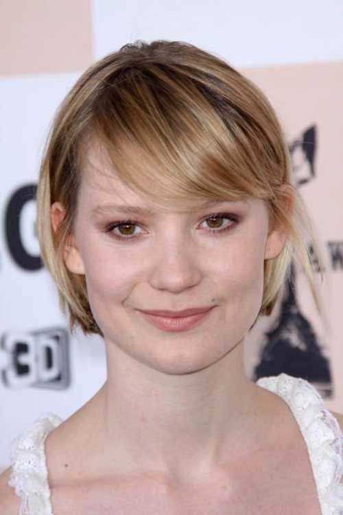 Straight-Fine-Hair-with-Side-Bangs Best Short Haircuts for Straight Fine Hair