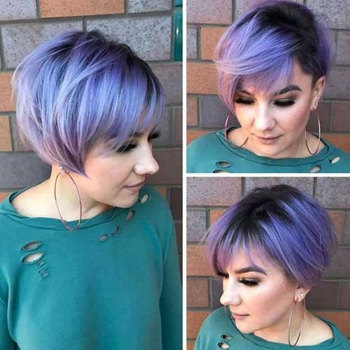 Unique-Hair-Color Best Short Haircuts You will Want to Try