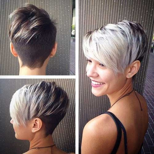 Asymmetrical-Short-Silver-Pixie-Haircut Best Short Pixie Cuts