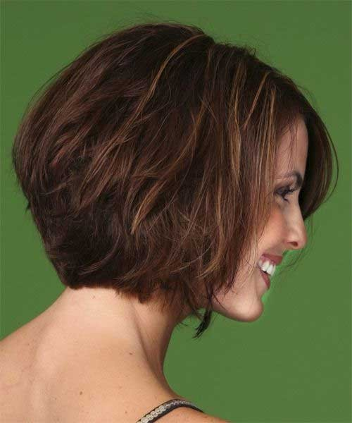 Back-View-of-Bob-Stacked-Haircut-for-Women Short Stacked Bob Hairstyles