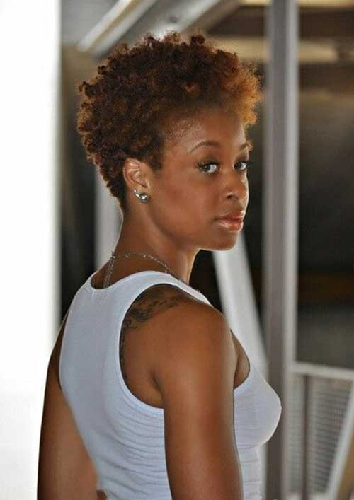 Big-Chop-and-Afro-Short-Hairstyle-for-Women Good Natural Black Short Hairstyles