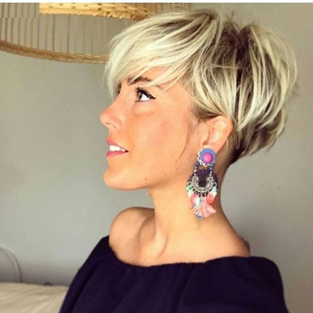 Blonde-Pixie Cute And Easy Hairstyles for Short Hair
