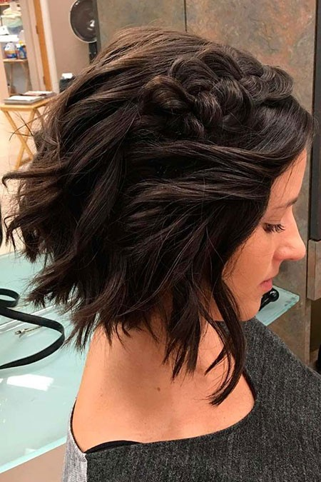 Braided-Hair Cute And Easy Hairstyles for Short Hair