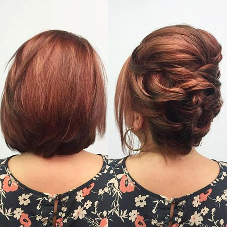Braided-Updo-Hairstyle Nice Updos for Short Hair