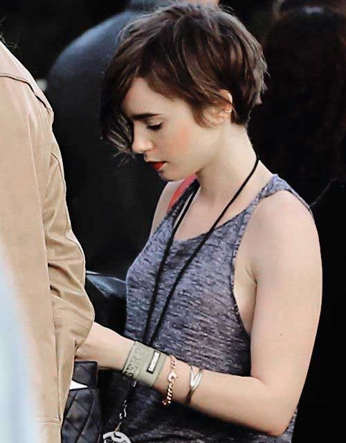 Brown-Pixie-Hair-Model-Side-View Best Short Pixie Cuts