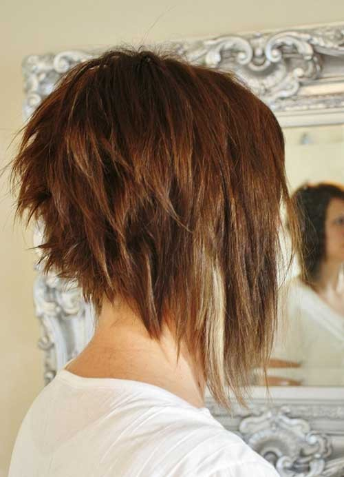 Choppy-Long-a-Line-Bob-Haircut-Style Short Stacked Bob Hairstyles