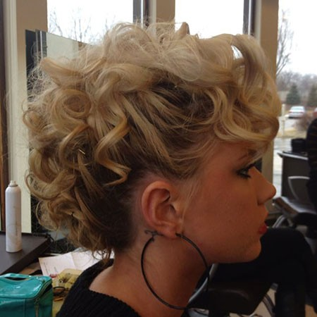 Curly-Faux-Hawk-Updo Nice Updos for Short Hair