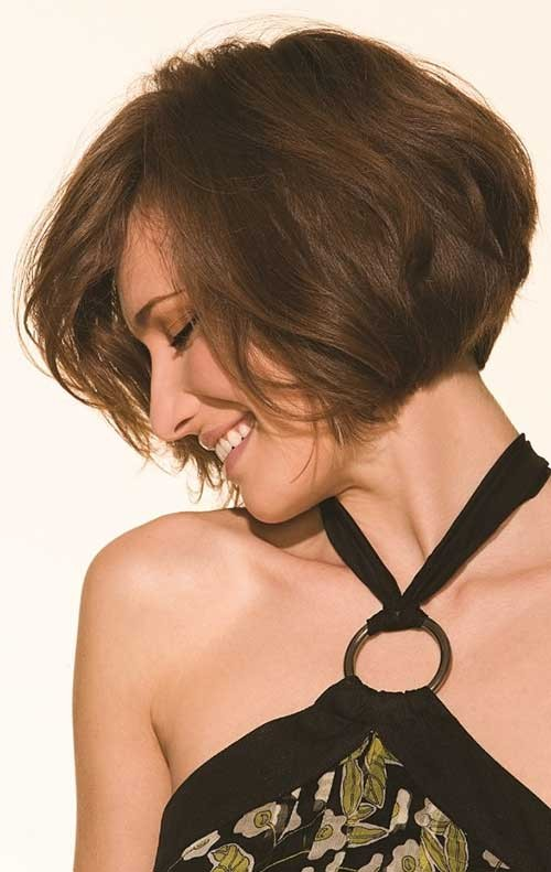 Cute-Short-Inverted-Stacked-Bob-Picture Short Stacked Bob Hairstyles