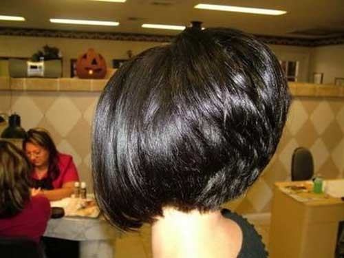 Dramatic-Stacked-Thick-Bob-Hairstyle Short Stacked Bob Hairstyles