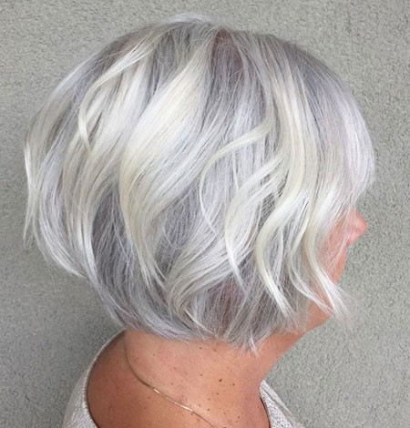 Grey-Hair Cute And Easy Hairstyles for Short Hair