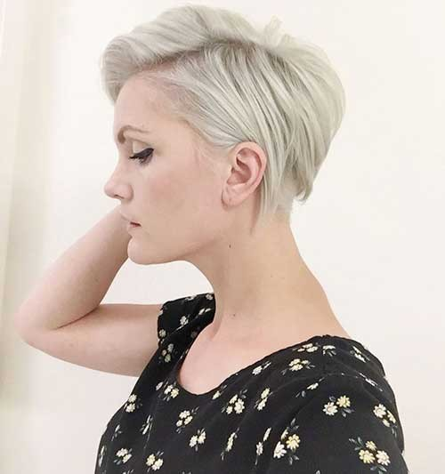 Light-Blonde-Straight-Short-Pixie Best Short Pixie Cuts