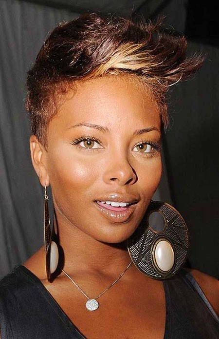 Mohawk-Cut Short Hairstyles for Black Women 2018
