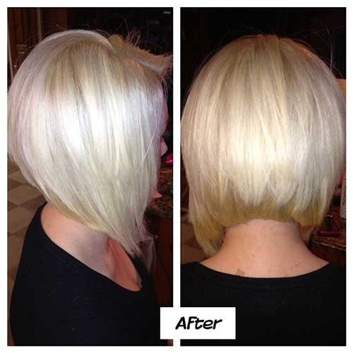Nice-Platinum-Stacked-Bob-Hairstyle Short Stacked Bob Hairstyles