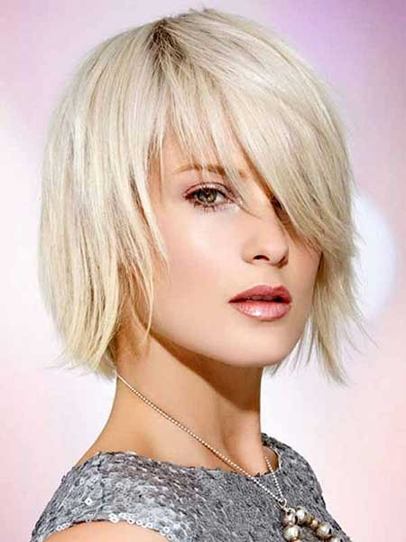Platinum-Filled-Bob-Hairstyle Layered Bob Haircuts