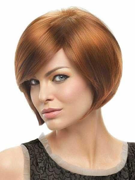 Red-Neat-Beautiful-Bob Layered Bob Haircuts
