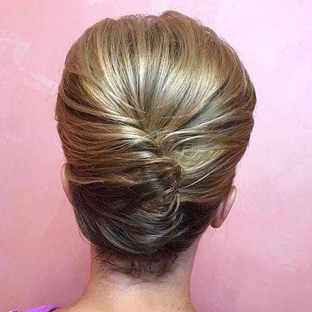 Rolled-Updo-Hair Nice Updos for Short Hair