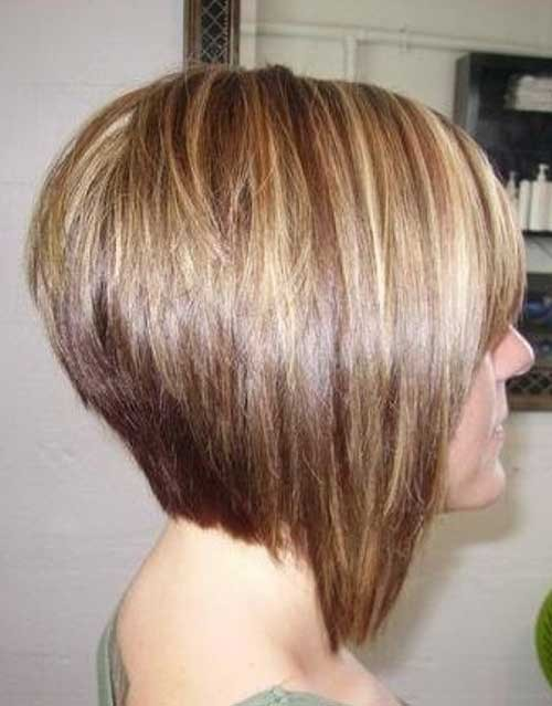 Short-Blonde-Stacked-Bob-Hairstyle Short Stacked Bob Hairstyles