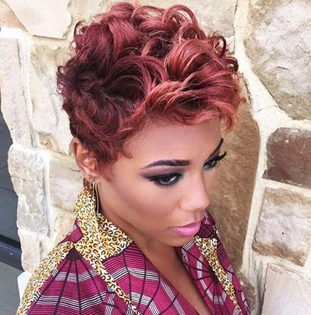 Short-Curly-Pixie Short Hairstyles for Black Women 2018