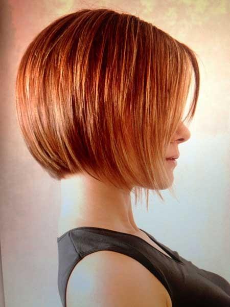 Straight-Line-Ginger-Bob Layered Bob Haircuts