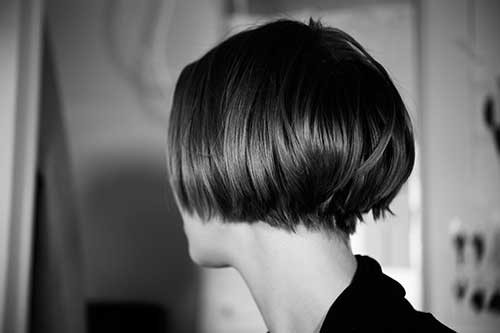 Undercut-Stacked-Bob-Short-Hairstyle Short Stacked Bob Hairstyles