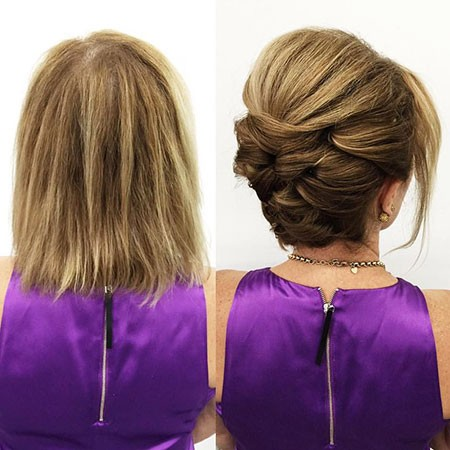 Updo-with-Volume Nice Updos for Short Hair