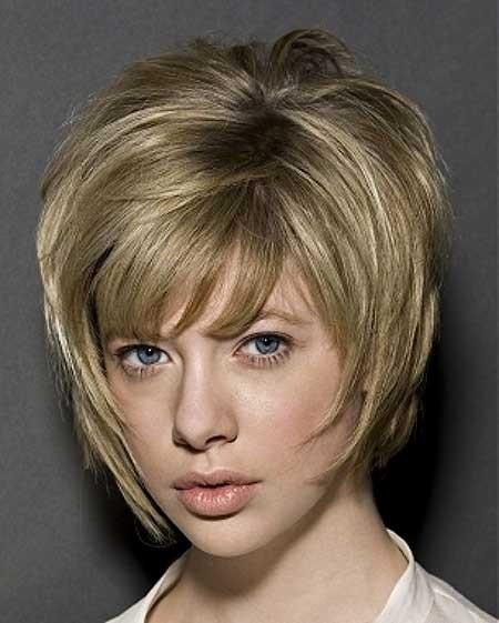 Very-Short-Blonde-Bob Layered Bob Haircuts