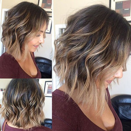 Wavy-Hair New Short Hair with Color