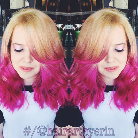 25-Lace-Wig-623 Blonde And Pink Ombre Hair