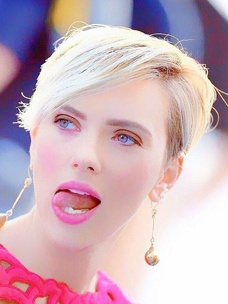 Blonde-Hair Best Scarlett Johansson Short Hair