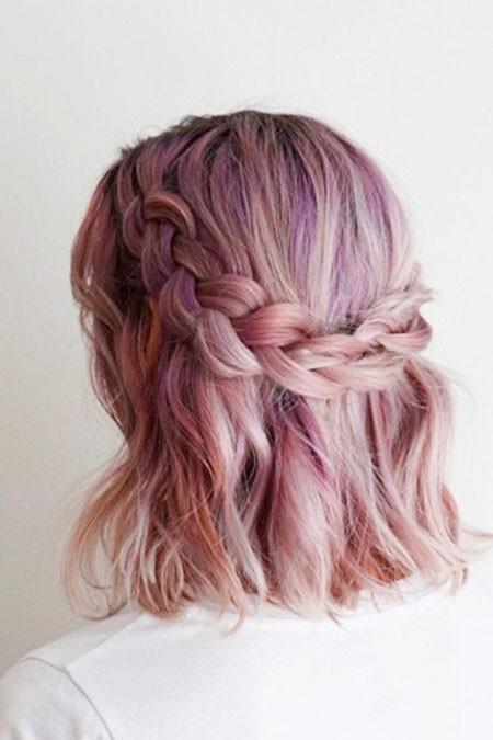 Braids-for-Medium-Length-Hair Trendy Short Haircuts for Women