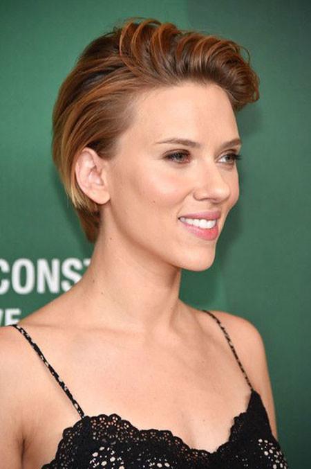 Brown-Hair Best Scarlett Johansson Short Hair