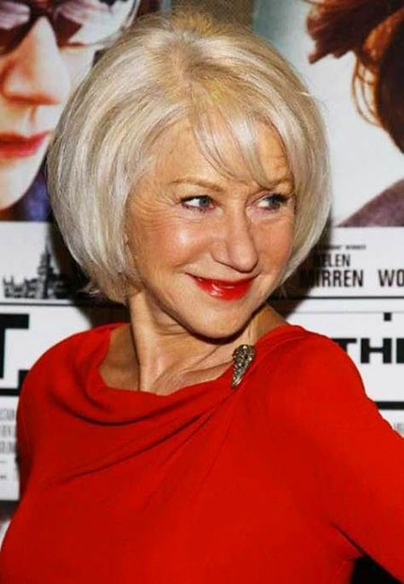 Cute-Bob-with-Bangs Short Hairstyles for Women Over 50