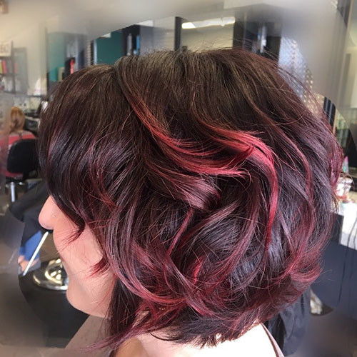 Dark-Red-Brown-Hair Best Short Hairstyles for Women 2019