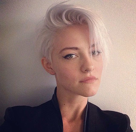 Grey-Fine-Hair Best Short White Blonde Hair