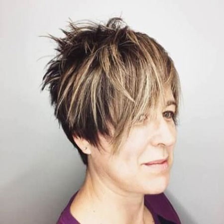 Latest-Choppy-Hair- Short Hairstyles for Women Over 50