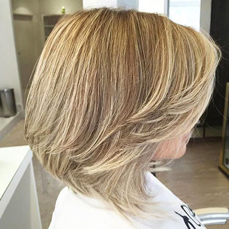 Layered-Blond Best Layered Bob Hairstyles