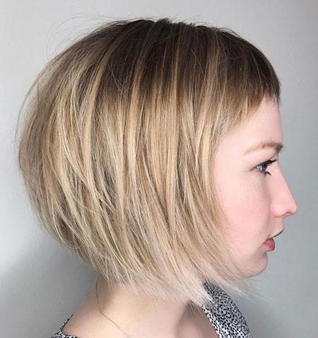 Layered-Very-Short-Bangs Chic Short Haircuts with Bangs