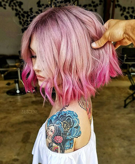 Mermaid-Version Amazing Short Ombre Hairstyles