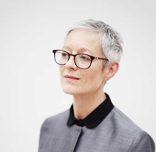 Nice-Thin-Short-Pixie-Cut-for-Older-Women Short Pixie Hairstyles for Older Women