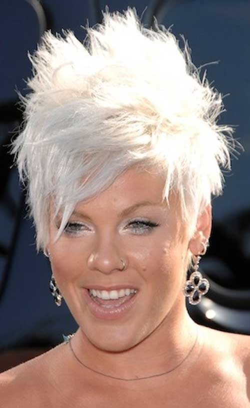 Pink-Messy-and-Spiky-Short-Hairstyle Spiky Short Haircuts