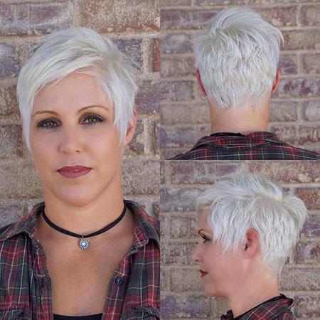 Pixie-Cut Best Short White Blonde Hair