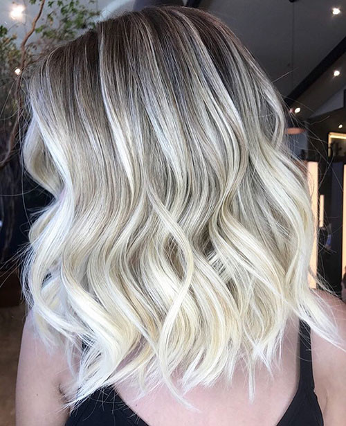 Shadow-Root-Blonde Best Short Hairstyles for Women 2019