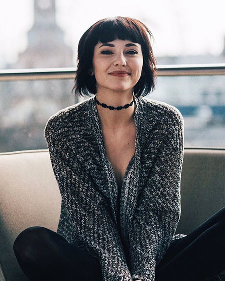 Short-Haircut-with-Bangs Chic Short Haircuts with Bangs