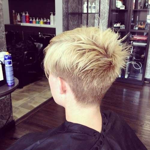 Short-Spiky-Hairstyle-with-Undercut Spiky Short Haircuts
