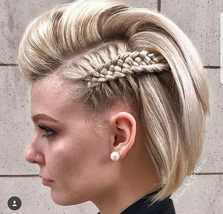 Side-Braided Short Hairstyles for Prom
