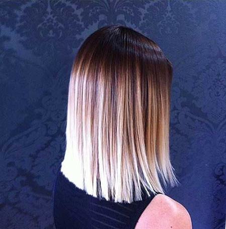 Straight-One-Length-Hairstyle Amazing Short Ombre Hairstyles