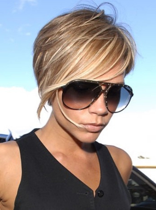 Victoria-Beckham-Short-Hair Celebrity Short Haircuts