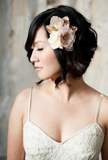 11-Short-Hair-Wedding-Style-601 Bridal Hairstyles for Short Haircut